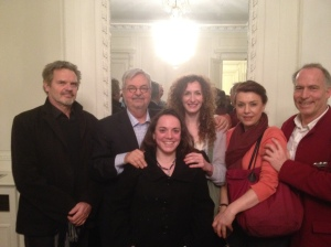 Yves Collignon, Michel Tremblay, Marie Mainchin, Sophie Parel, Cécile Magnet, Christian Bordeleau au Centre Culturel Canadien de Paris, automne 2012